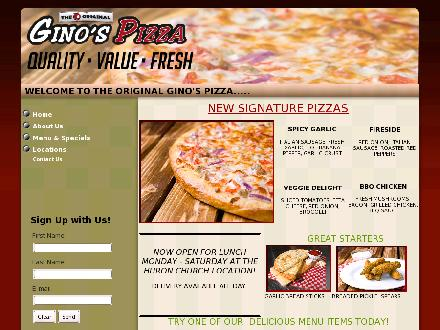 Gino's Pizza (519-969-0999) - Website thumbnail - http://www.clickonginospizza.com