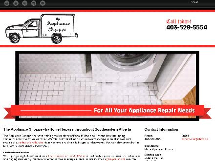 Appliance Shoppe The (403-529-5554) - Onglet de site Web - http://appshoppe.ca/