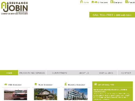 Assurance A Jobin &amp; Associ&eacute;s Inc (450-445-0879) - Onglet de site Web - http://www.aajobin.com