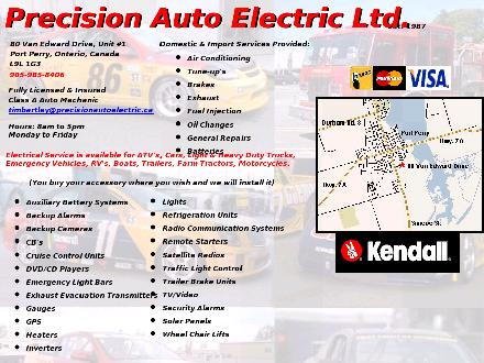 Precision Auto Electric Ltd (905-985-8406) - Website thumbnail - http://www.precisionautoelectric.ca