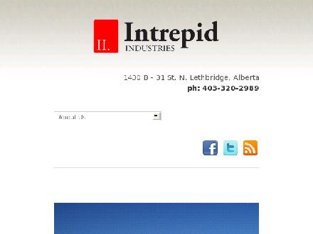 Intrepid Industries (403-320-2989) - Website thumbnail - http://www.intrepidindustries.ca