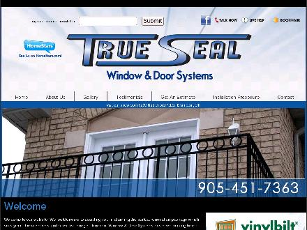 Trueseal Window & Door Systems (289-328-0741) - Website thumbnail - http://www.truesealwindows.com