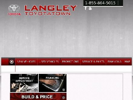Langley Toyotatown (604-530-3156) - Website thumbnail - http://www.langleytoyotatown.com