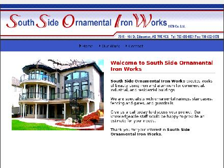 South Side Ornamental Iron Works (1979) Ltd (780-439-0801) - Onglet de site Web - http://www.southsideornamental.com
