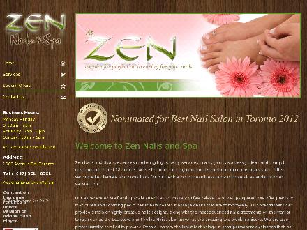 Zen Nails And Spa (647-351-9361) - Onglet de site Web - http://www.zennailsandspa.ca