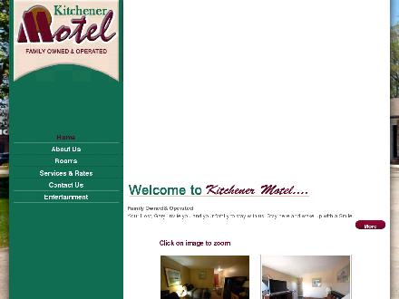 Kitchener Motel (519-745-1177) - Onglet de site Web - http://www.kitchenermotel.ca