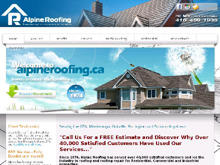 Alpine Roofing (647-495-8538) - Onglet de site Web - http://www.alpineroofing.ca