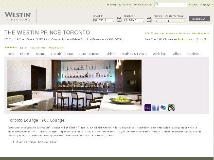 900 lounge (416-444-2511) - Website thumbnail - http://www.westinprincetoronto.com/900-Lounge