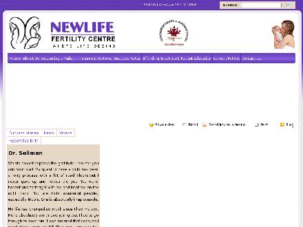 NewLife Fertility Centre (905-896-7100) - Onglet de site Web - http://www.newlifefertility.com