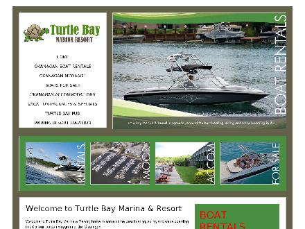 Turtle Bay Marina Resort (250-766-3120) - Onglet de site Web - http://www.turtlebaymarina.com