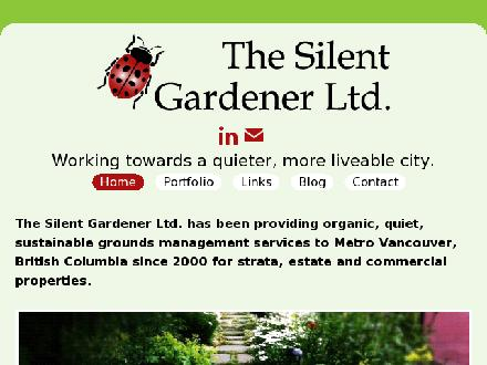 Silent Gardener Ltd The (604-324-3628) - Website thumbnail - http://www.thesilentgardener.com