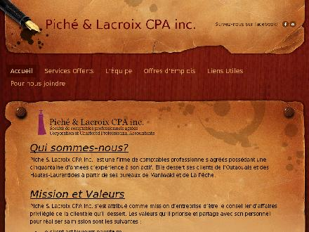 Pich&eacute; Ethier Lacroix CA inc (819-449-3571) - Onglet de site Web - http://www.delconseil.com/