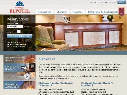 Château Repotel Inc (418-872-1111) - Website thumbnail - http://www.chateaurepotel.com