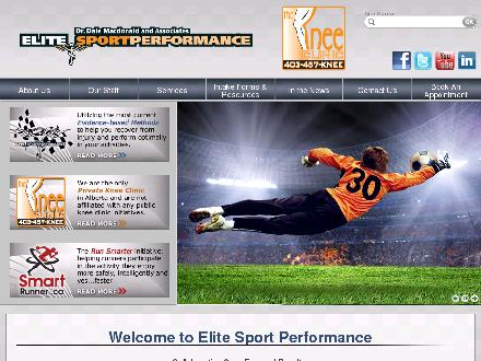 Knee Clinic (403-457-5633) - Website thumbnail - http://www.elitesportperformance.com