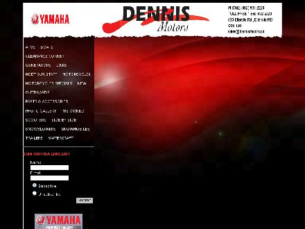 Dennis Motors (902-831-2229) - Website thumbnail - http://www.dennismotors.ca