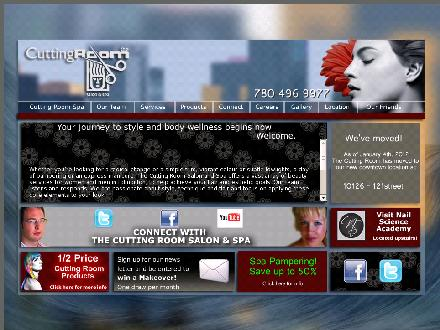The Cutting Room Salon & Spa (780-412-2538) - Onglet de site Web - http://www.thecuttingroomsalon.com