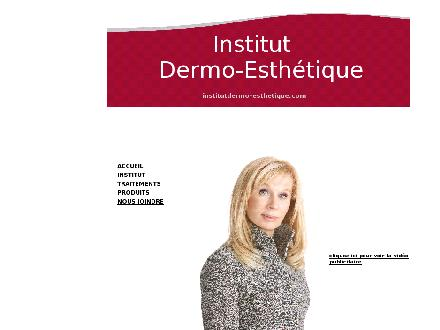 Institut Dermo Esth&eacute;tique (418-657-3443) - Onglet de site Web - http://www.institutdermo-esthetique.com