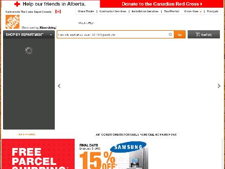 The Home Depot Canada (613-843-7900) - Website thumbnail - http://www.homedepot.ca
