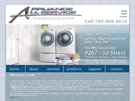 Appliance All Service (780-468-4616) - Onglet de site Web - http://www.applianceallservice.com