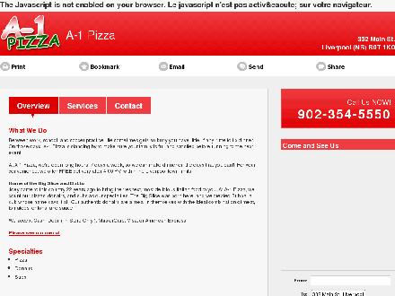 A-1 Pizza (902-354-5550) - Onglet de site Web - http://a-1pizza.com/