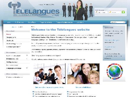 T&eacute;l&eacute;langues International Lt&eacute;e (514-388-6998) - Onglet de site Web - http://www.telelangues.ca