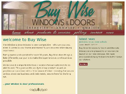Buy Wise Windows & Doors (905-873-0236) - Website thumbnail - http://www.buy-wise.ca