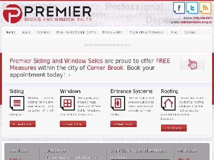 Premier Siding &amp; Window Sales Ltd (709-634-4300) - Website thumbnail - http://www.premiersiding.ca