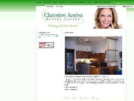 Clareview Aestiva Dental Center (780-428-1025) - Onglet de site Web - http://www.aestivadental.ca