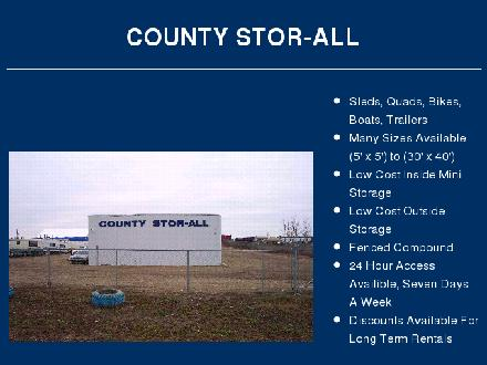 County Stor-All (780-357-7982) - Onglet de site Web - http://home.cablerocket.com/~storall