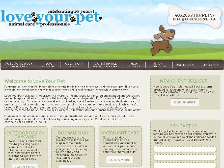 Love Your Pet (403-727-0149) - Onglet de site Web - http://www.loveyourpet.ca