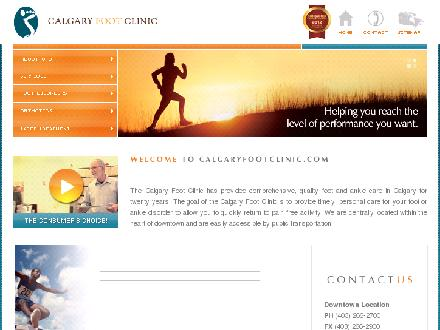 Calgary Foot Clinic (403-266-2700) - Onglet de site Web - http://www.foottalk.com
