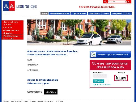 AJA Assurances (514-353-1331) - Onglet de site Web - http://www.ajaassurances.com