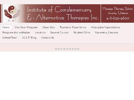 Institute Of Complementary And Alternative Therapies (416-695-4600) - Onglet de site Web - http://www.instituteofalternativetherapies.ca