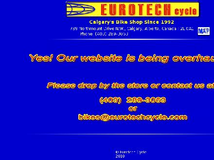 Eurotech Cycle (403-289-3063) - Onglet de site Web - http://www.eurotechcycle.com