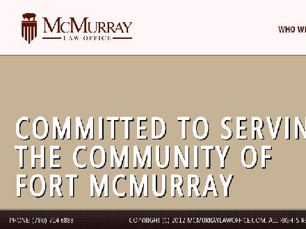 McMurray Law Office (780-714-6888) - Onglet de site Web - http://www.mcmurraylawoffice.com