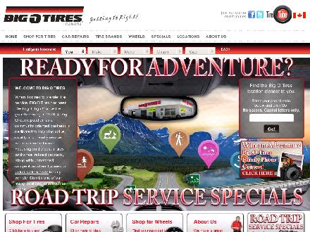 Big O Tires and Service Centres (604-465-7822) - Website thumbnail - http://www.gobigo.ca