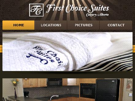 First Choice Suites (403-861-9730) - Onglet de site Web - http://www.firstchoicesuites.ca