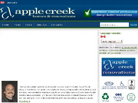 Apple Creek Homes & Renovations (519-884-6100) - Onglet de site Web - http://www.applecreekbuilding.com