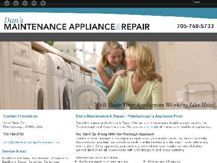 Dan's Appliance Repair (705-768-5733) - Onglet de site Web - http://peterboroughappliancerepair.ca/