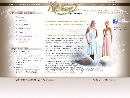 Alliance Bridal (613-909-7339) - Website thumbnail - http://www.alliancebridal.com