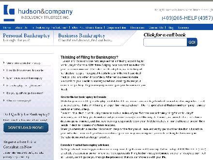 Hudson &amp; Company Insolvency Trustees Inc (403-265-4357) - Website thumbnail - http://www.hudsoninc.ca