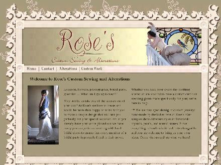Rose's Custom Sewing (613-253-4771) - Onglet de site Web - http://www.rosescustomsewing.ca