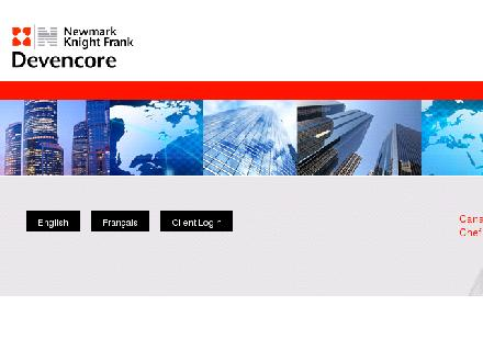 Newmark Knight Frank Devencore (416-366-0366) - Onglet de site Web - http://www.devencore.com