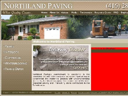 Northland Paving Ltd (416-286-4292) - Onglet de site Web - http://www.northlandpaving.com