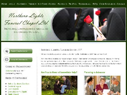 Northern Lights Funeral Chapel Ltd (780-594-9647) - Website thumbnail - http://www.northernlightsfs.ca