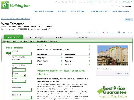 Holiday Inn Hotel & Suites WEST EDMONTON (1-877-654-0228) - Website thumbnail - http://www.holidayinn.com/redirect?path=hd&hotelCode=yegwe&_PMID=99604256
