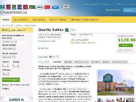 Quality Suites (418-622-4244) - Website thumbnail - http://www.choicehotels.ca/cn335