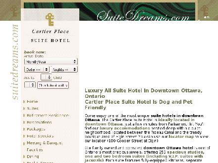 Cartier Place Suite Hotel (613-604-0207) - Website thumbnail - http://www.suitedreams.com