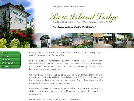 Bow Island Lodge (403-545-6060) - Onglet de site Web - http://www.bowislandlodge.ca