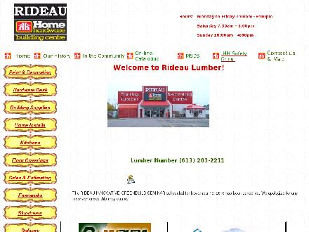 Rideau Home Hardware Building Centre (613-283-2211) - Website thumbnail - http://www.rideaulumber.com